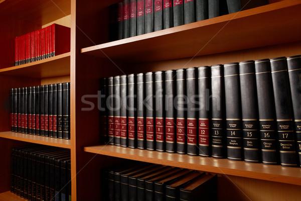 Biblioteca stand foto estantería libros grande Foto stock © pressmaster