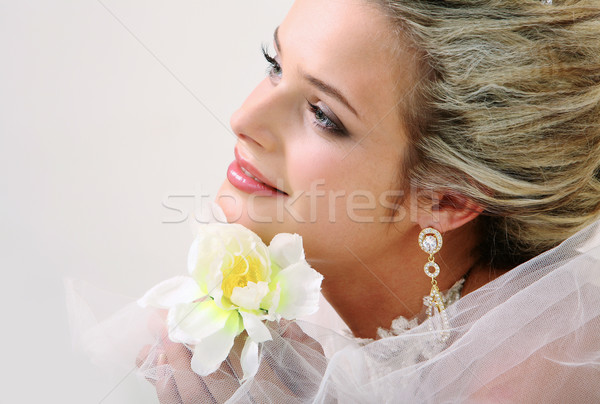 Bride with orchid Stock photo © pressmaster