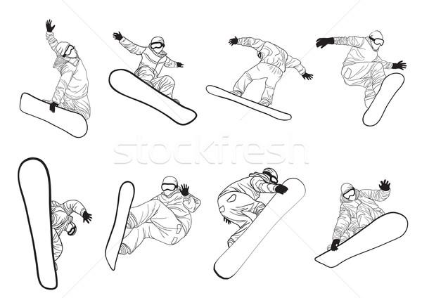 Raccolta diverso estrema uomo sport arte Foto d'archivio © pressmaster