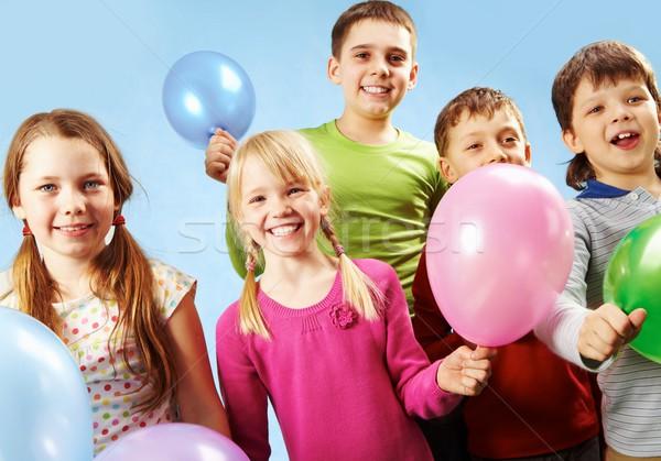 Não descrição família crianças aniversário amigos Foto stock © pressmaster