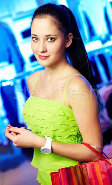 Menina roupa departamento retrato mulher bonita olhando Foto stock © pressmaster