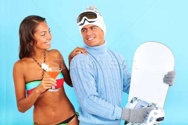 夏天 冬天 肖像 可愛 女孩 比基尼泳裝 商業照片 © pressmaster