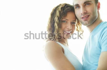 年輕 日期 快樂 情侶 看 相機 商業照片 © pressmaster