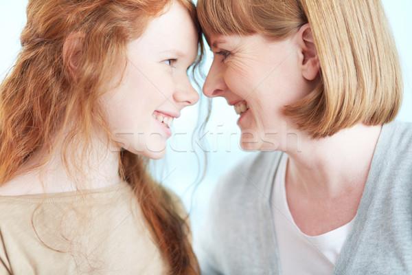 幸福 少女 母親 見える 1 ストックフォト © pressmaster
