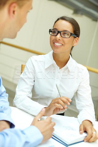 Smiling to colleague Stock photo © pressmaster
