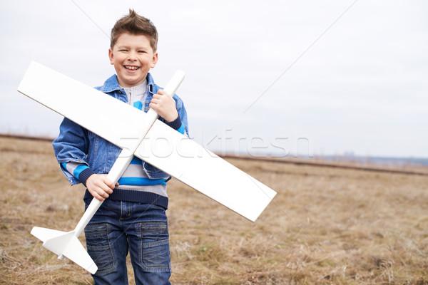 Boy with toy Stock photo © pressmaster