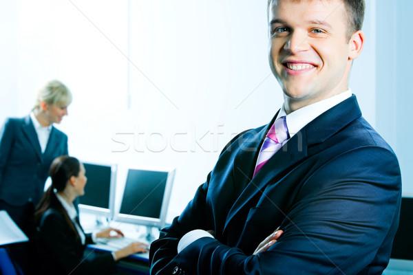 Stok fotoğraf: Başarılı · iş · lider · fotoğraf · mutlu · adam