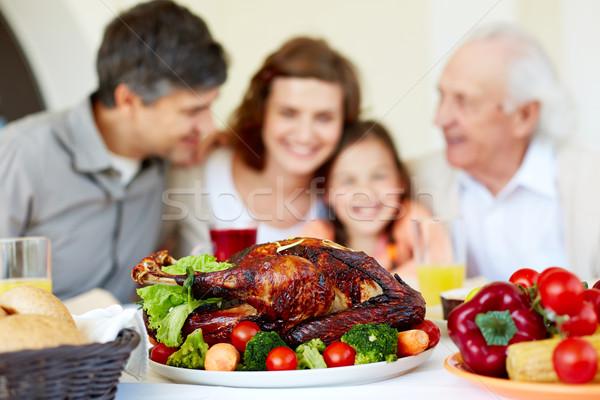 Stock photo: Roasted turkey
