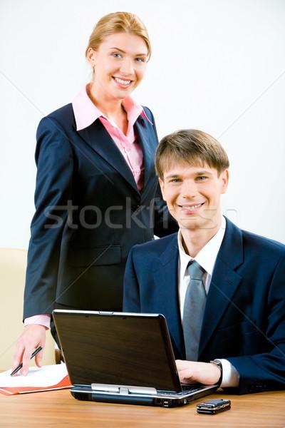 Zdjęcia stock: Ludzi · biznesu · obraz · człowiek · biznesu · atrakcyjny · sekretarz · patrząc
