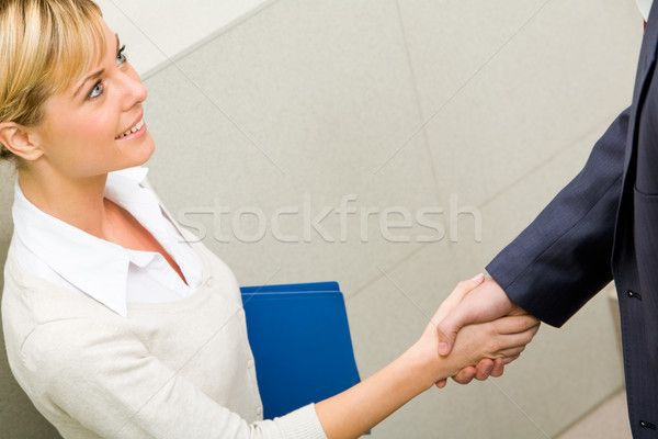 Stock fotó: üzlet · üzlet · fotó · üzletasszony · partner · aláírás