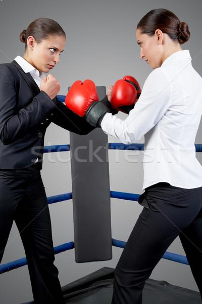 Harcol nők fotó agresszív üzlet nők Stock fotó © pressmaster