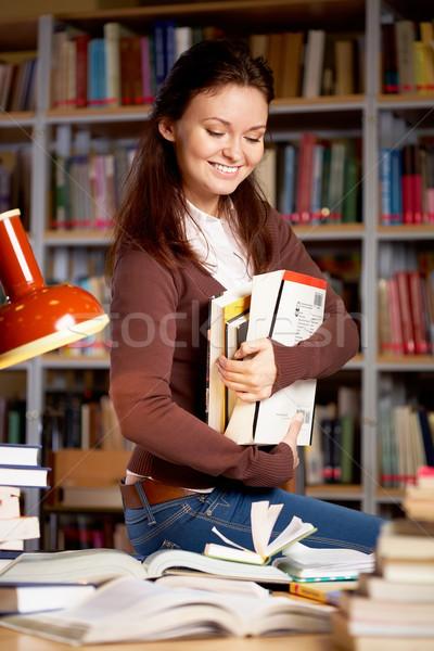 Girl with books Stock photo © pressmaster
