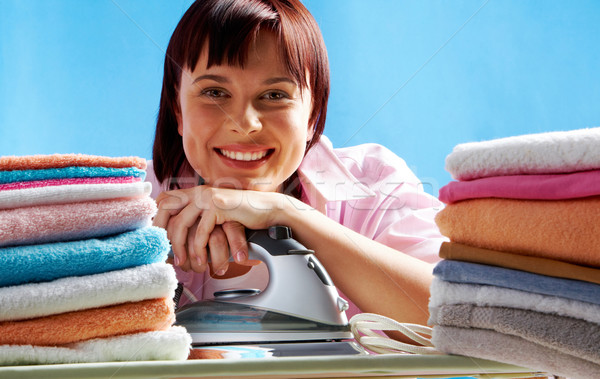 Happy housewife Stock photo © pressmaster