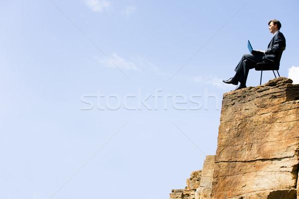 Stock foto: Eingebung · Porträt · Geschäftsmann · arbeiten · Business · glücklich