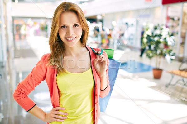 Tüketici alışveriş merkezi portre güzel bakıyor Stok fotoğraf © pressmaster