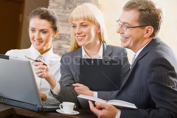 Negocios interacción mujer creativa proyecto Foto stock © pressmaster