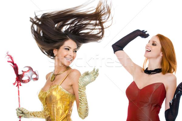 весело фото радостный модный Платья смеясь Сток-фото © pressmaster