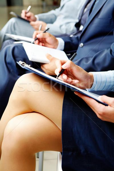 Eğitim iş adamları belgeler oturma ders Stok fotoğraf © pressmaster