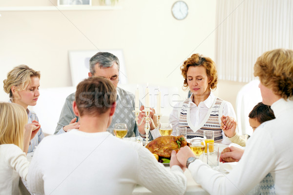 Stock photo: Giving thanks to God