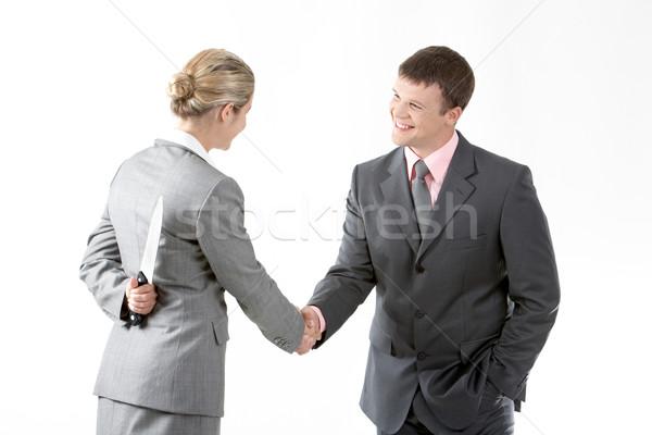 соглашение портрет Бизнес-партнеры женщины ножом Сток-фото © pressmaster