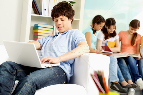 Student with computer Stock photo © pressmaster