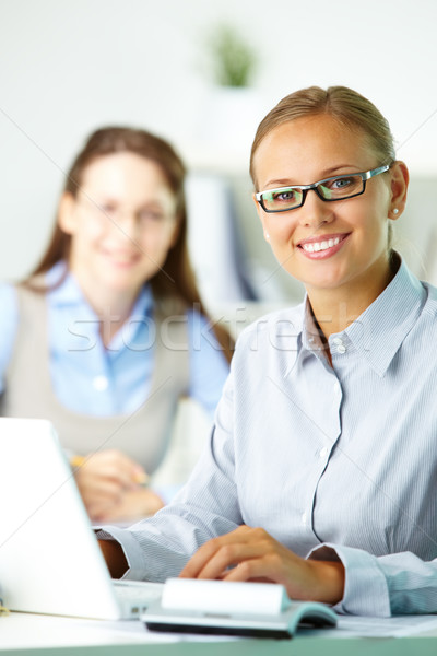 Happy office worker Stock photo © pressmaster