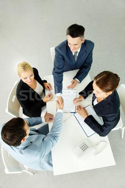 Face au-dessus vue réussi partenaires Photo stock © pressmaster