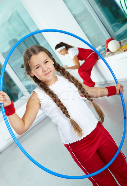 Girl with hoop Stock photo © pressmaster