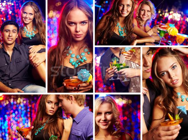 Buli kép boldog barátok éjszakai klub nő Stock fotó © pressmaster