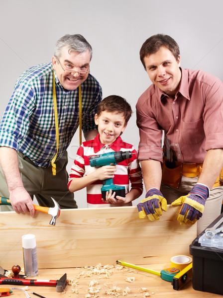 Family of carpenters Stock photo © pressmaster