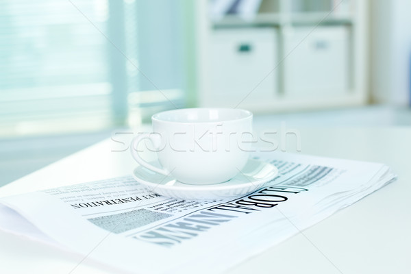 Beker business krant witte permanente vers Stockfoto © pressmaster
