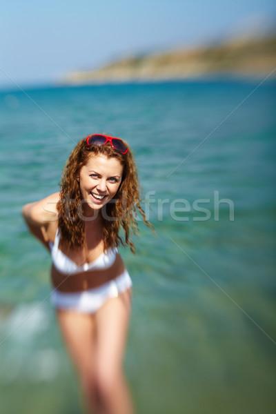 見 美少女 ポーズ カメラ 気のあるそぶりをした ストックフォト © pressmaster