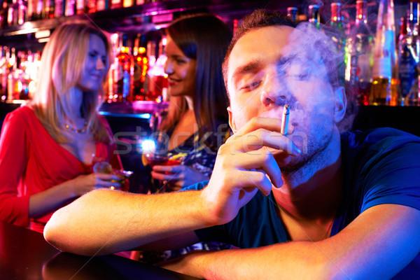 Smoking guy Stock photo © pressmaster