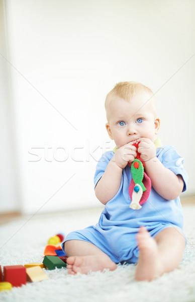 мальчика игрушку портрет небольшой играет домой Сток-фото © pressmaster