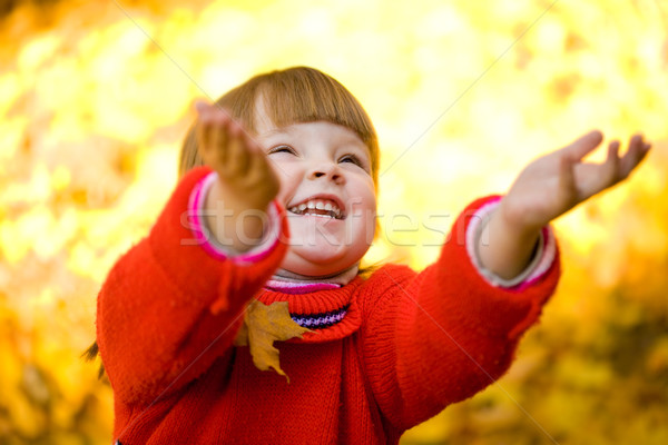 Playing with autumn Stock photo © pressmaster