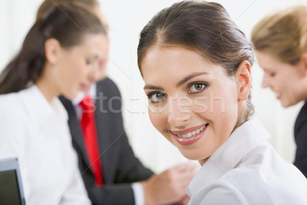 Portret specialist jonge bruine ogen werken milieu Stockfoto © pressmaster