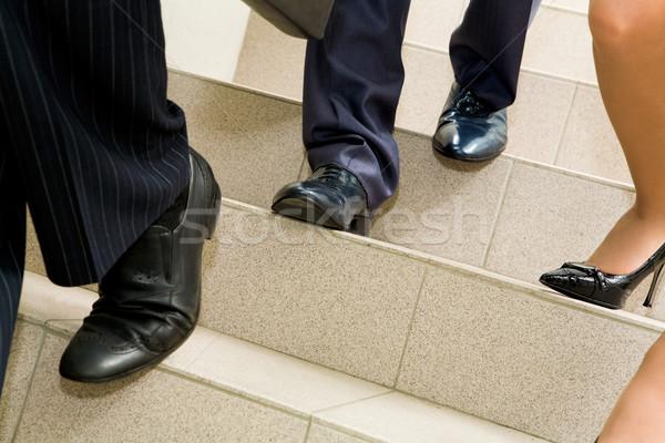 Stock fotó: Kép · női · férfi · lábak · üzlet · iroda