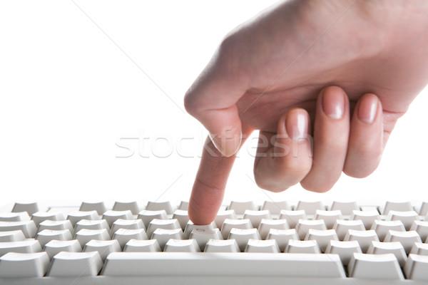 кнопки изображение человека клавиатура Сток-фото © pressmaster