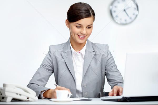 Stok fotoğraf: Ofis · işleri · görüntü · genç · işveren · planlama · çalışmak
