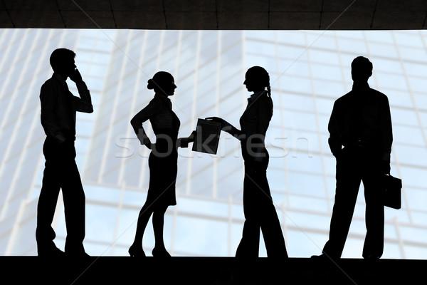 Stock photo: Four silhouettes