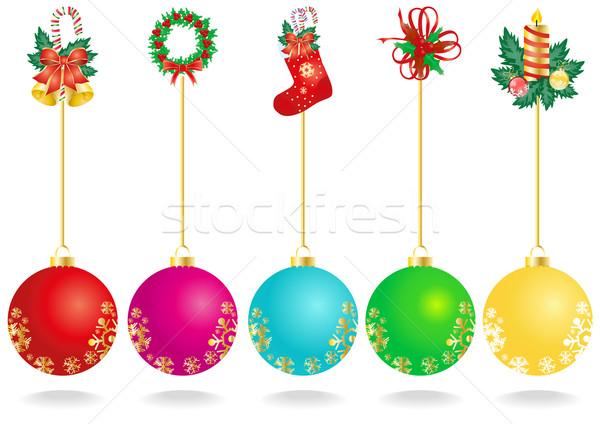 Natale decorazione colore palla pittura Foto d'archivio © pressmaster