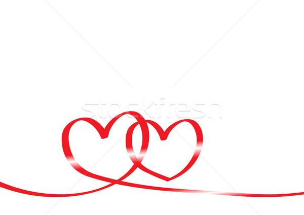 Bürokrácia űrlap kettő szívek absztrakt háttér Stock fotó © pressmaster