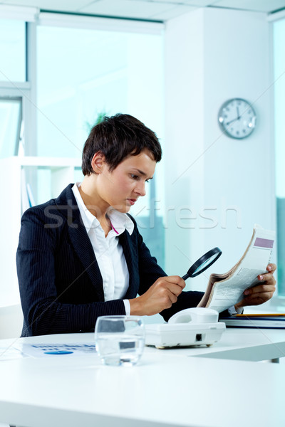Stock photo: Woman at work