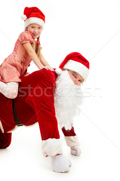 Stock photo: Santa riding