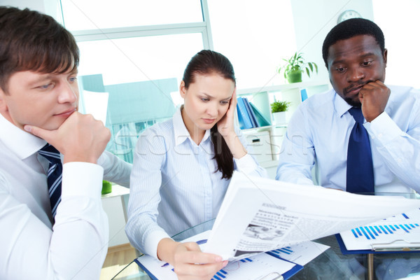 Getting aware of business news Stock photo © pressmaster