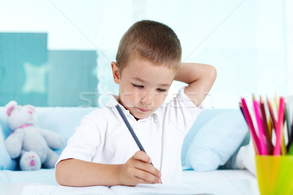 Stock photo: Deep in thought