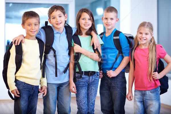 портрет Smart школьников Постоянный линия глядя Сток-фото © pressmaster