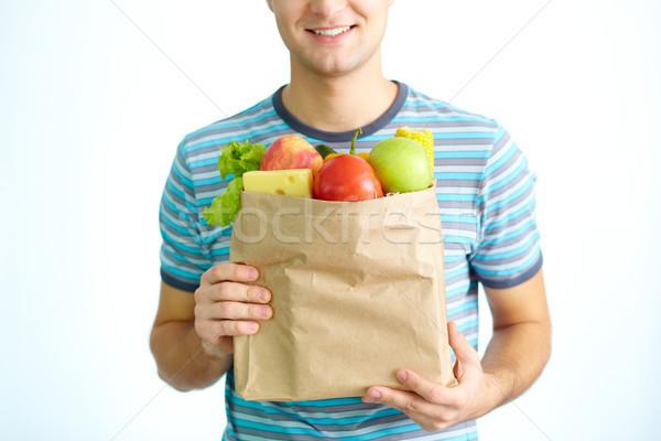 Stock foto: Essen · Gesundheit · Bild · Papier · voll · gesunde · Lebensmittel
