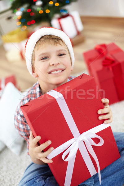 Lad with giftbox Stock photo © pressmaster