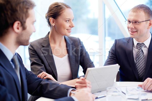 Photo stock: Discussion · groupe · planification · travaux · réunion
